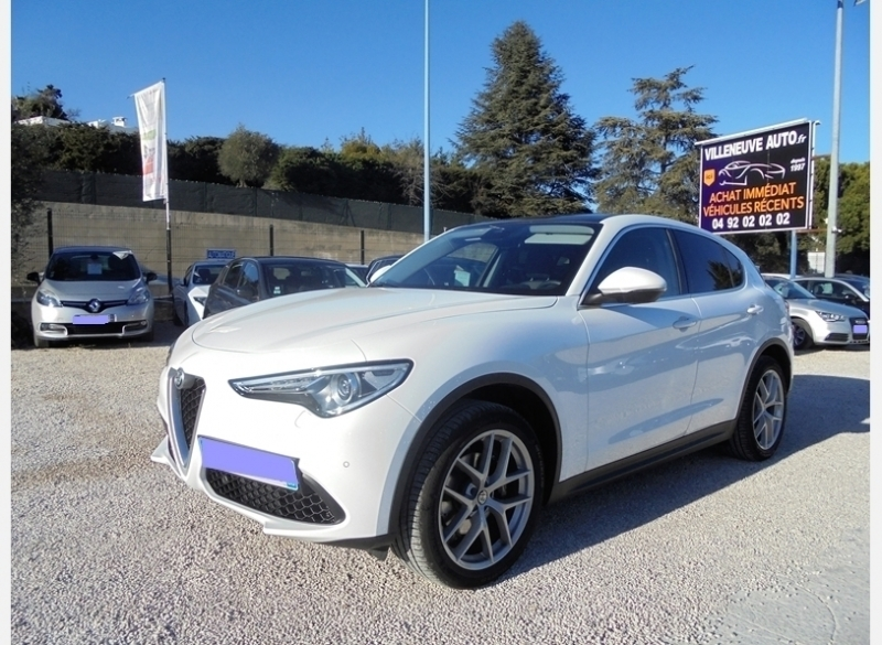 Alfa Romeo STELVIO 2.0T 280CH FIRST EDITION Q4 AT8 Essence BLANC Occasion à vendre